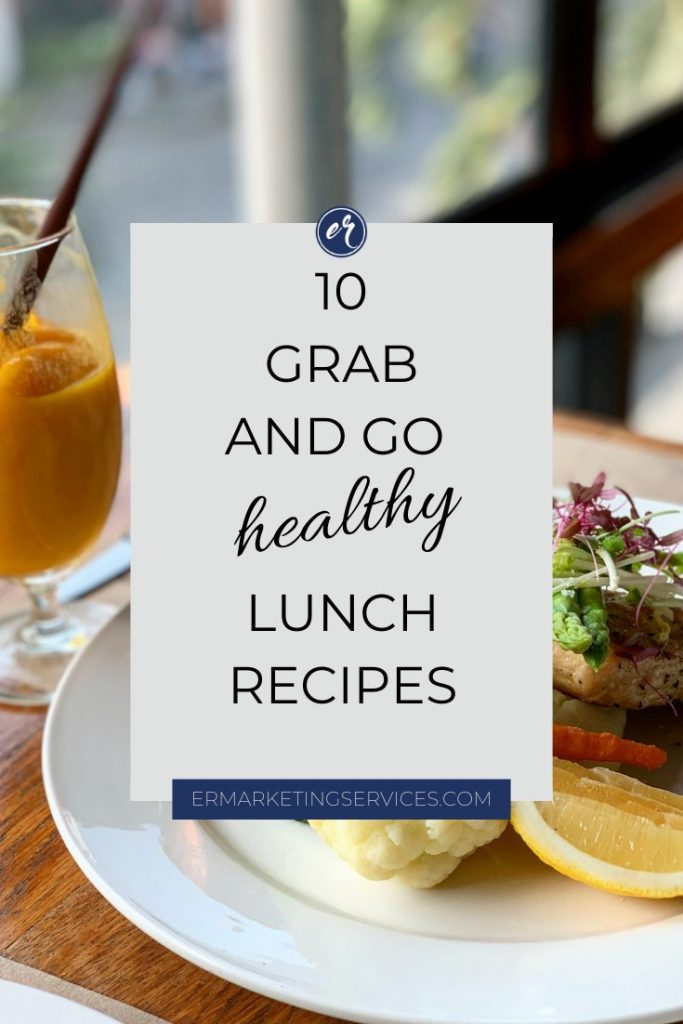 healthy lunch recipes pinterest image