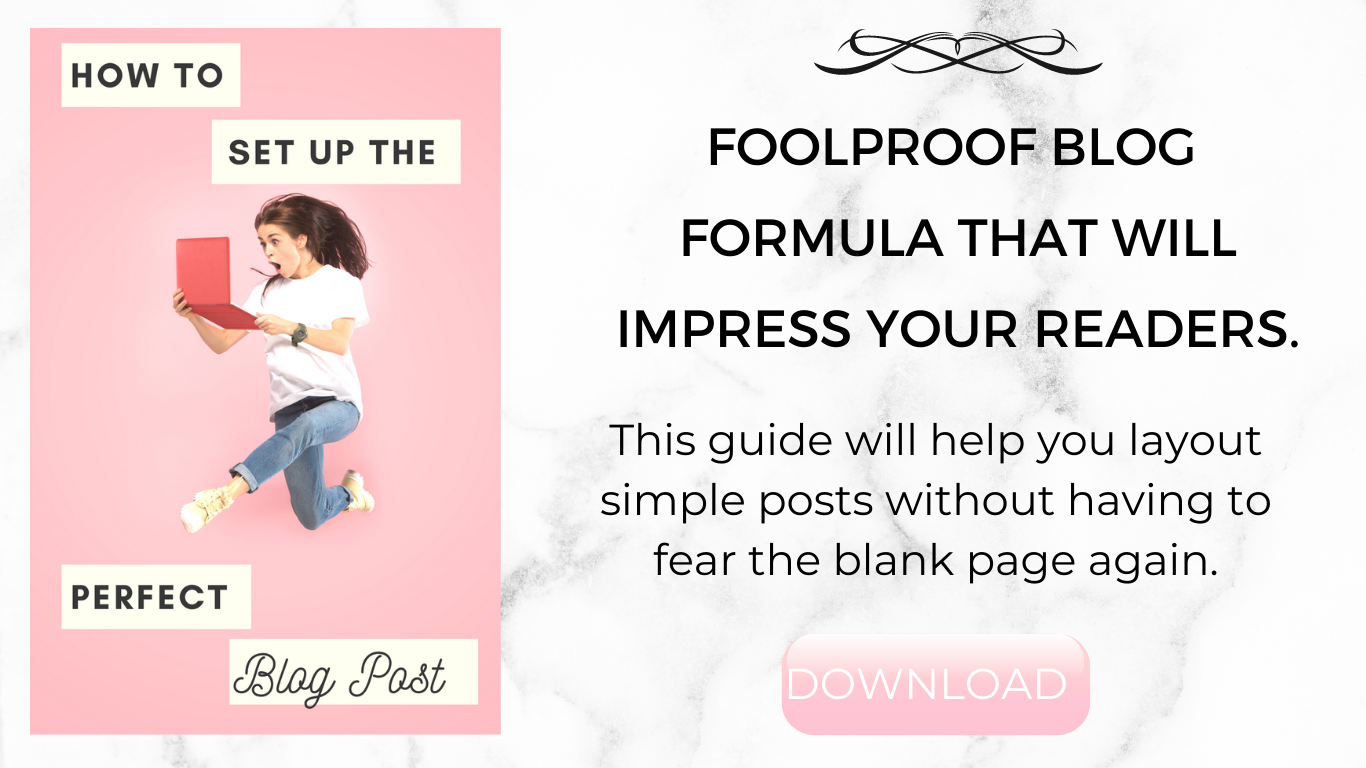 This guide will help you layout simple posts without having to fear the blank page again.